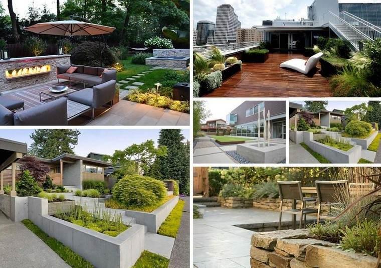 diseño de jardines modernos ideas terraza plantas