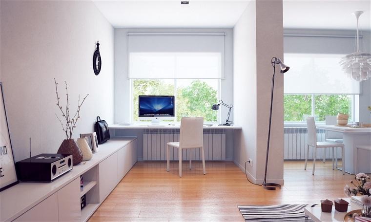 diseño estilo escandinavo zona trabajo