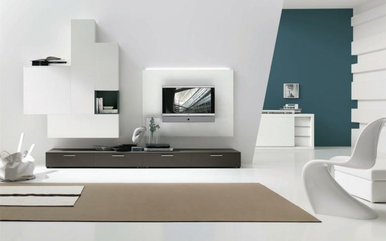 diseño futurista salon pared verde