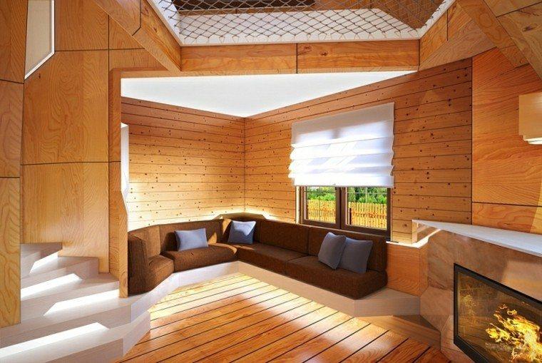 diseño interiores laminado madera pino