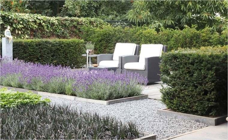 diseño jardin arena gravilla
