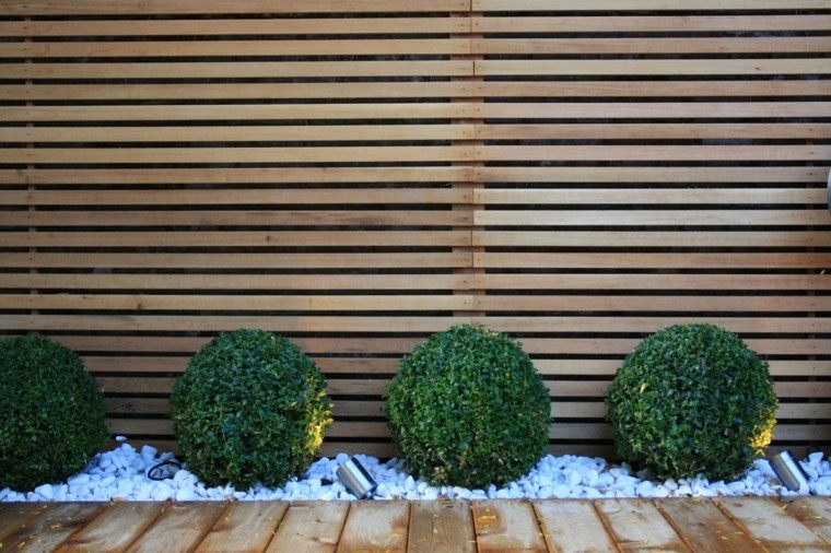 diseo moderno para patios y jardines diseo jardin setos bolas camino