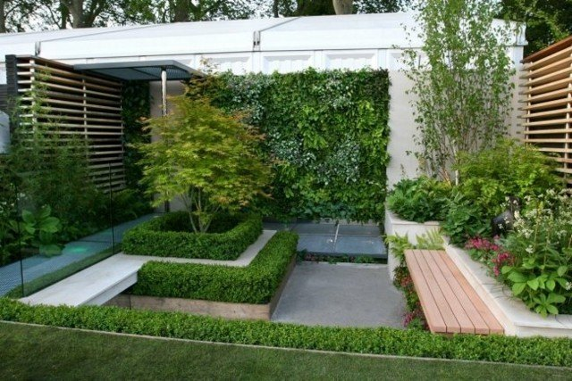diseño jardines paisajes modernos nivelados