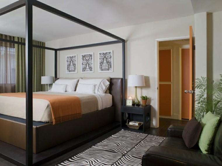 diseño moderno cama dosel metal