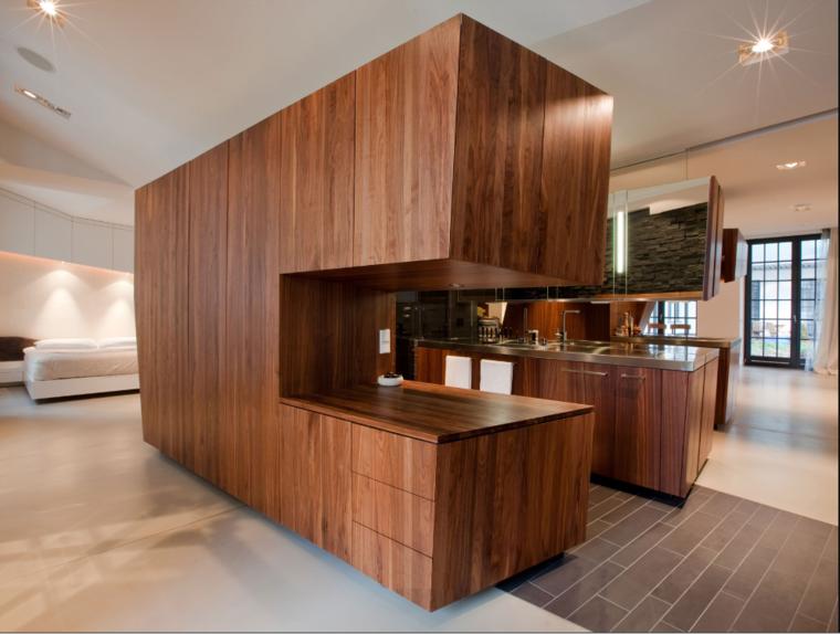 diseño moderno muebles laminado madera