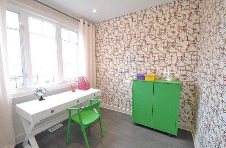 diseño estilo moderno silla verde