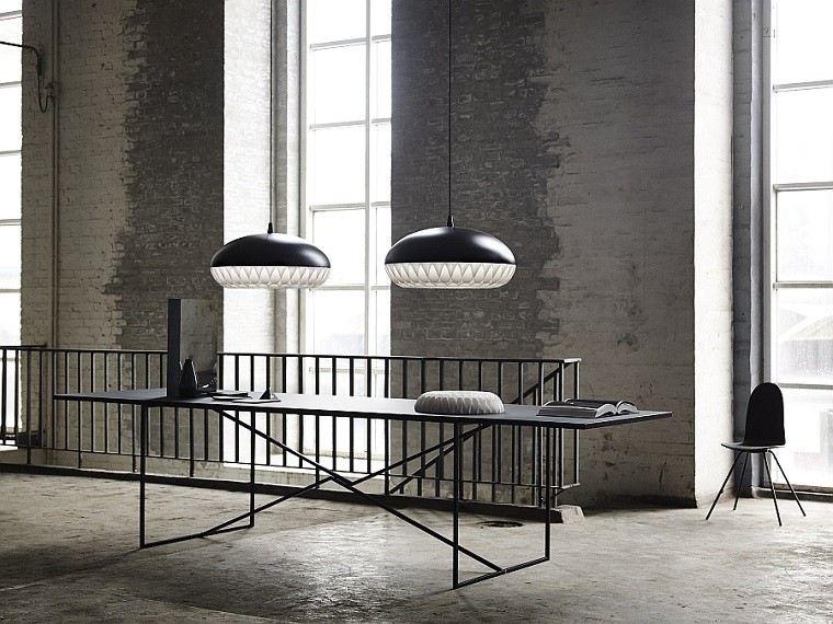 diseño oficina estilo industrial minimalista