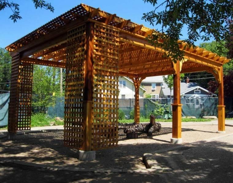 Pergolas de madera para el jard n m s de cincuenta ideas - Pergolas de madera valencia ...