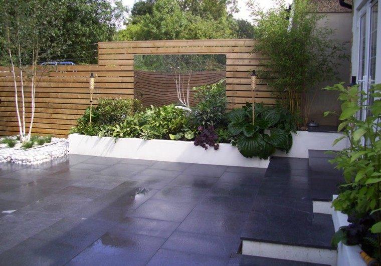 diseño plantas rocas minimalista patio