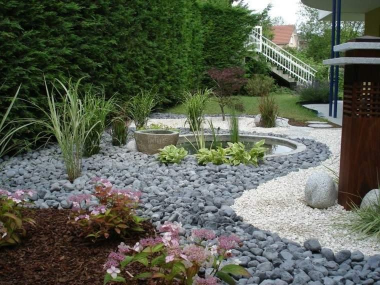 Dise o de jardines peque os y modernos 50 ideas for Decoracion de jardines con piedras