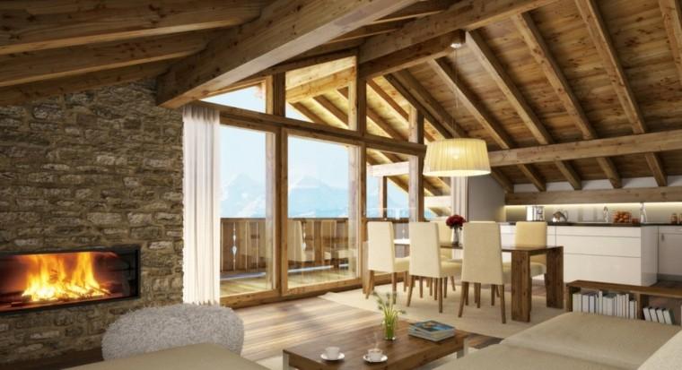 Piedra y madera para los revestimientos de paredes - Techos modulares ...