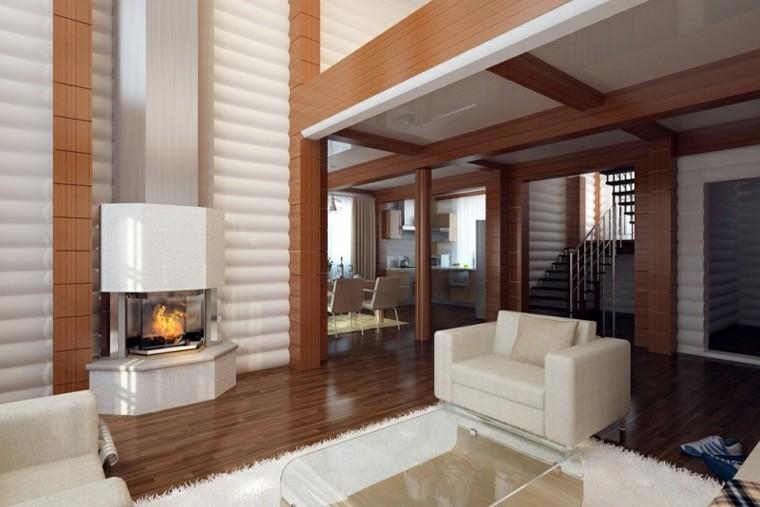 Interiores modernos 65 ideas para la decoraci n for Divisiones para sala y cocina