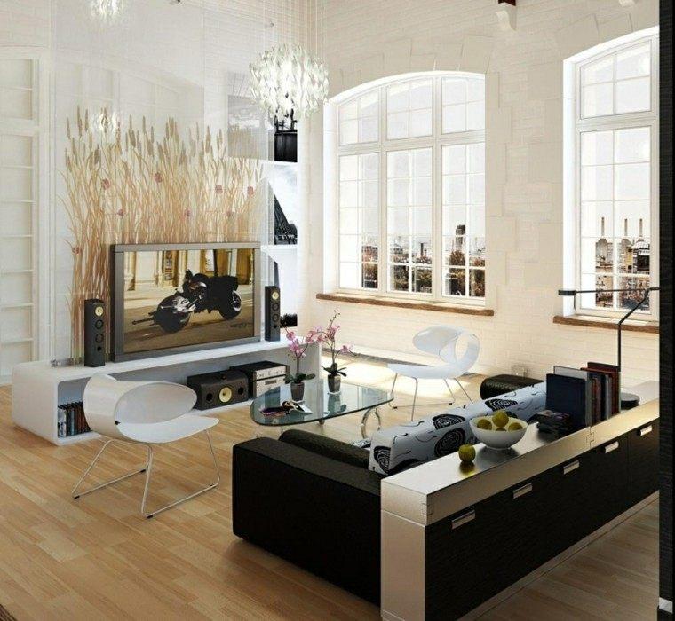 diseño salon moderno televisor