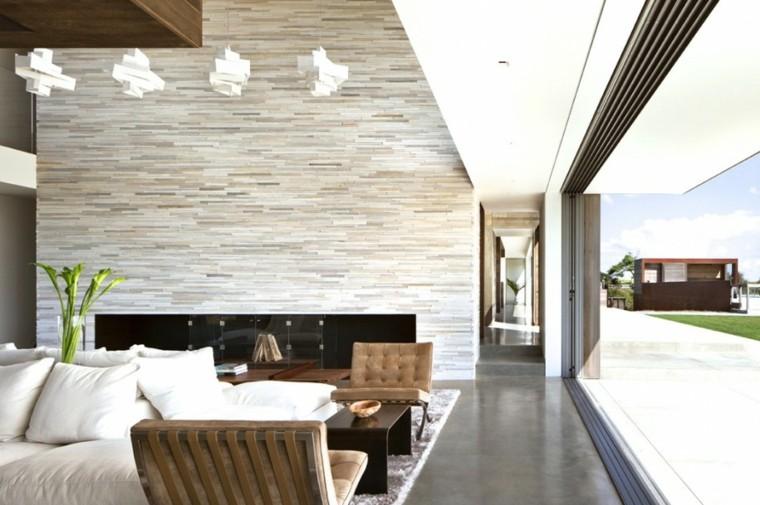 diseño salon vistas jardin moderno
