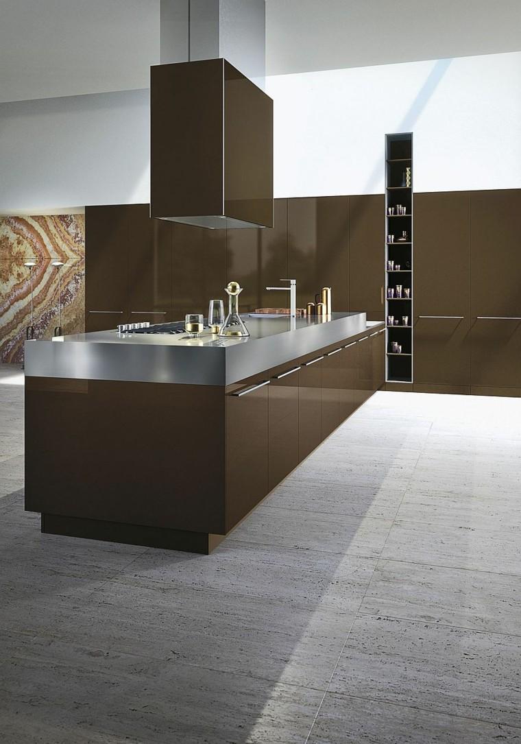 diseño singular moderna marron fregadero