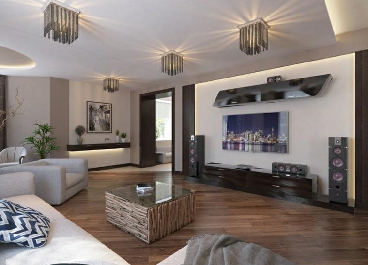 diseño varias lamparas techo mesa