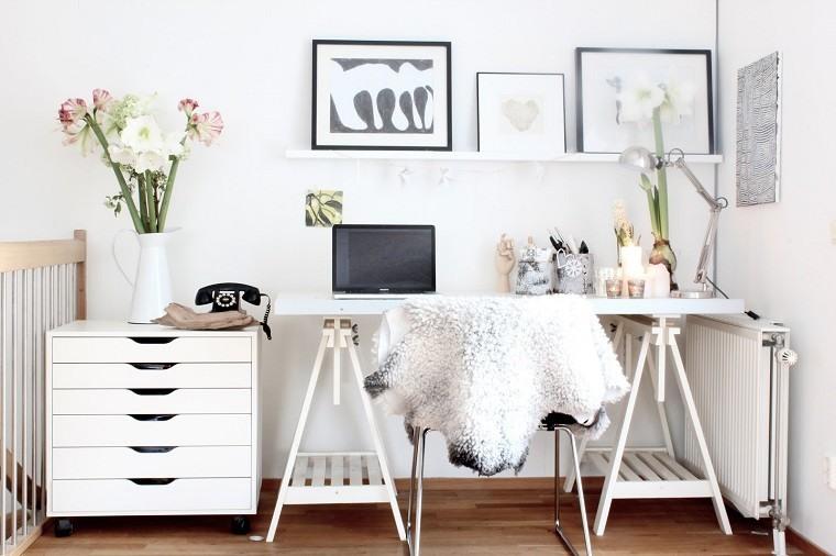 diseño estudio estilo escandinavo blanco