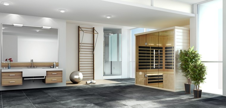 diseño saunas para casa