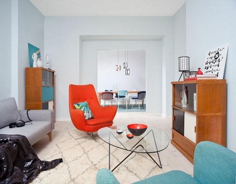 diseño de interiores salon precioso butaca roja comoda ideas