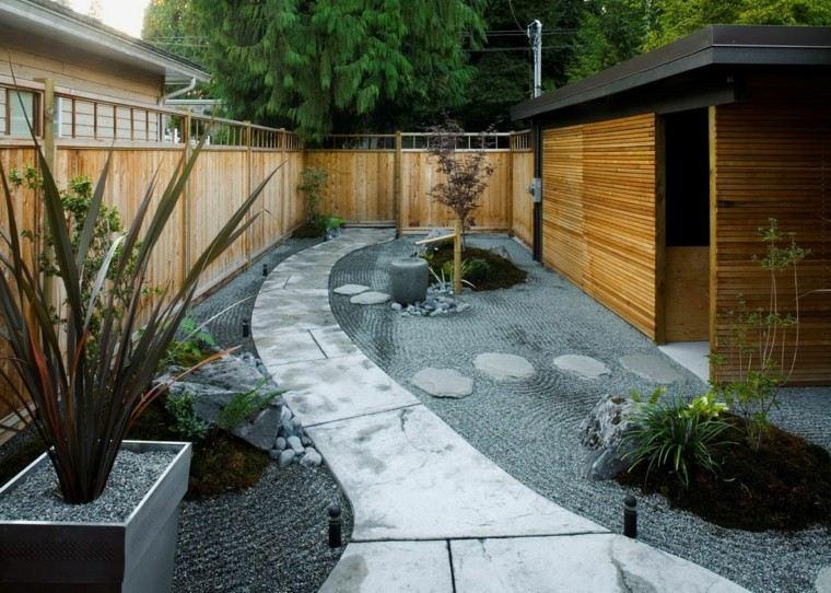 diseño de jardines estilo japones minimalista ideas