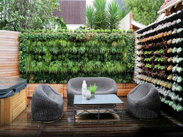 diseno de jardines verticales exterior suelo madera ideas with suelos para jardines exteriores