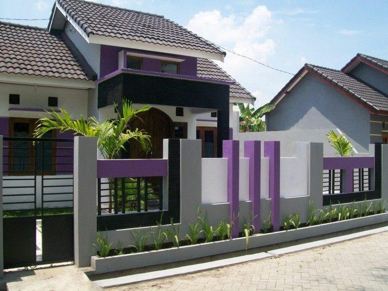 diseno original vallas jardin delantero entrada casa idea
