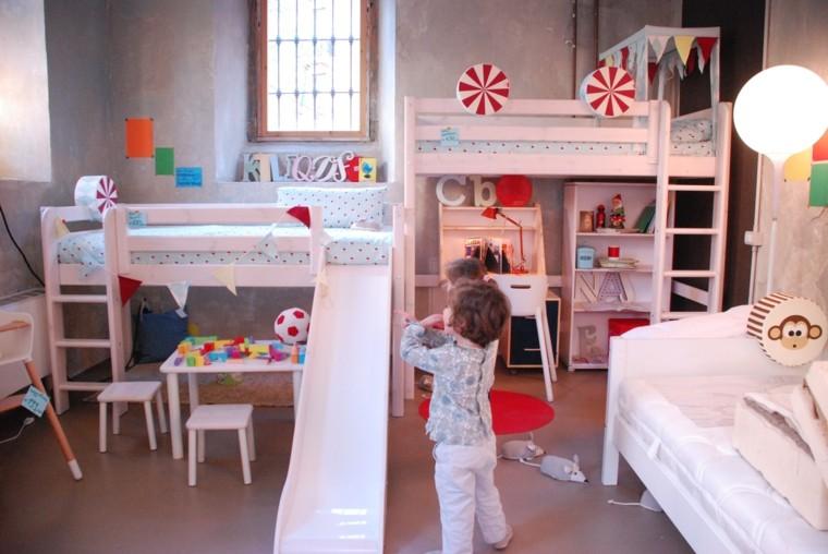 diversion habitacion nino camas tobogan ideas