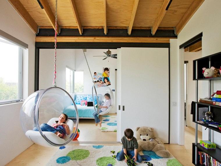 diversion habitacion nino sillas colgantes ideas