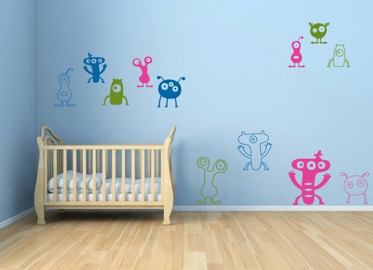 Revestimiento de paredes de dormitorios 50 ideas - Dibujos para habitaciones de bebe ...