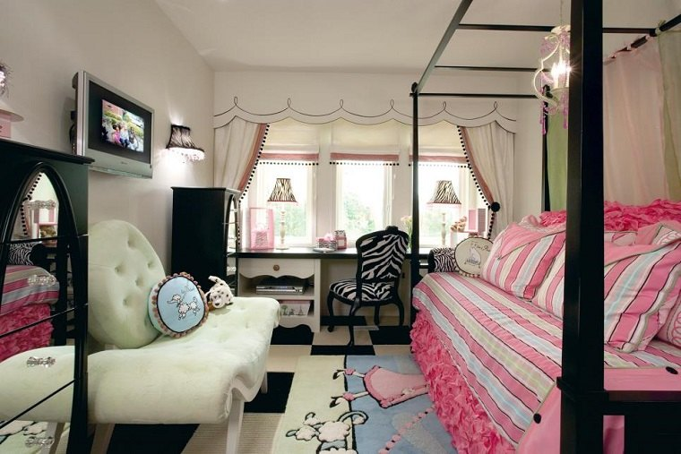Dormitorios juveniles 100 ideas para tu adolescente - Dosel cama nina ...