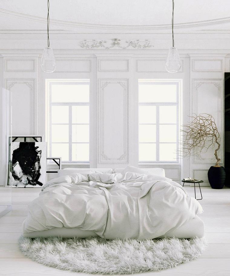 dormitorio diseno escandinavo amplio luminoso moderno