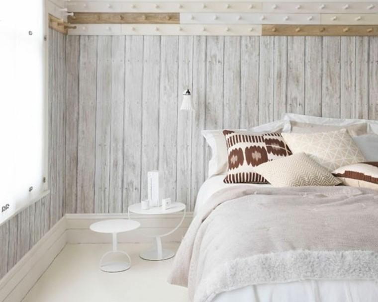 Belleza y estilo en dormitorios con dise o escandinavo - Dormitorio pared gris ...