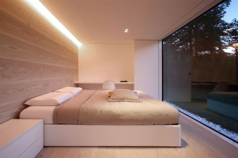 dormitorio elegante tradicional pared suelo madera ideas