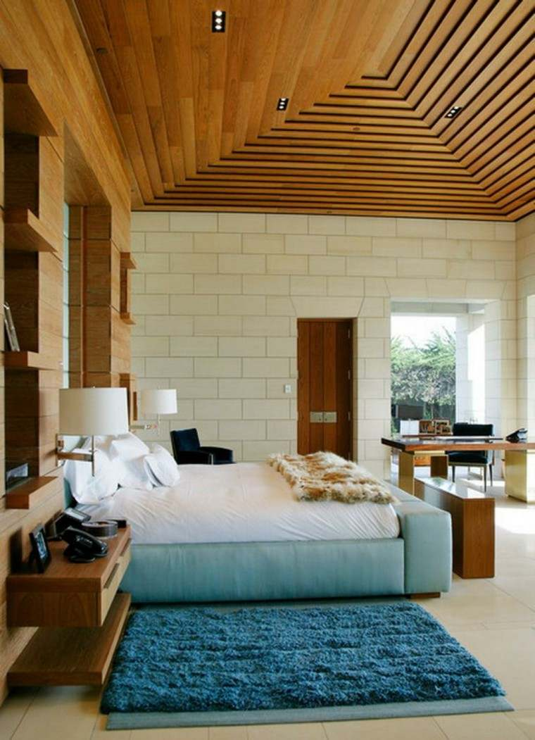 Techos de madera cincuenta ideas modernas for Bedroom false ceiling designs with wood