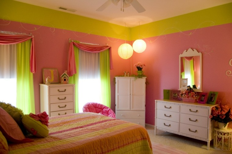 Combinaciones de colores para las paredes del dormitorio for Combinaciones de color verde para interiores