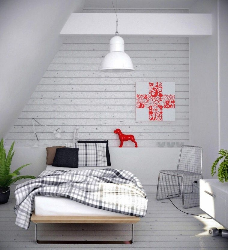 dormitorio juvenil laminado pared blanca
