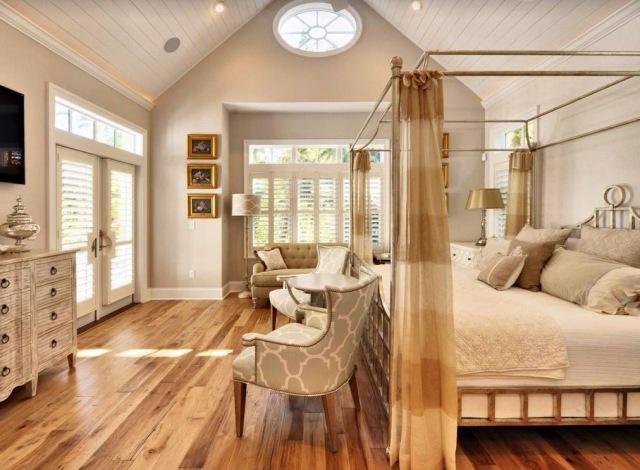 dormitorio estilo lujoso cama dosel