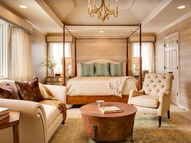 dormitorio estilo lujoso color beige