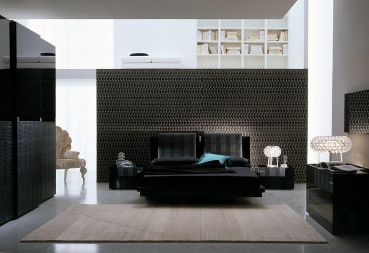 dormitorio estilo moderno color negro