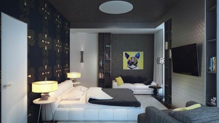 Revestimiento de paredes de dormitorios 50 ideas - Cuadros habitacion juvenil ...