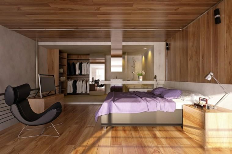 dormitorio estilo moderno laminado madera