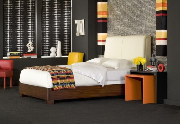 dormitorio estilo moderno mezcla colores