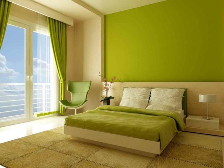 dormitorio estilo moderno verde pistacho