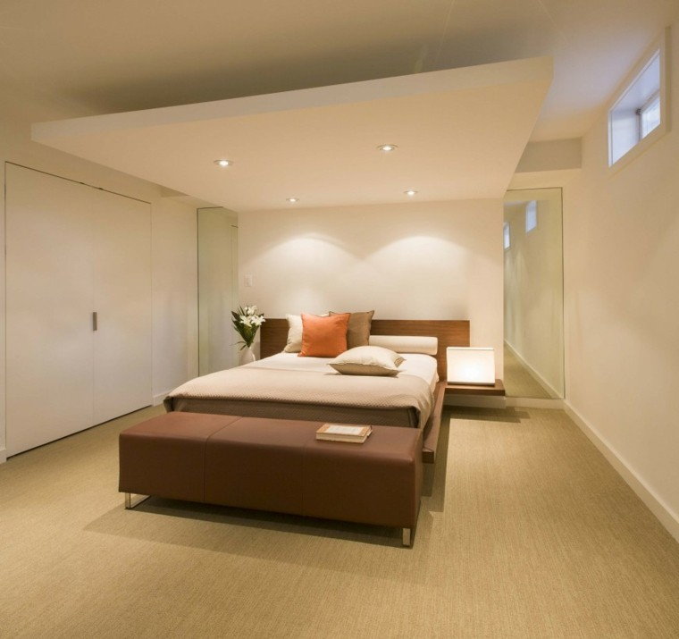 dormitorio pared dos epejos grandes estilo clasico ideas