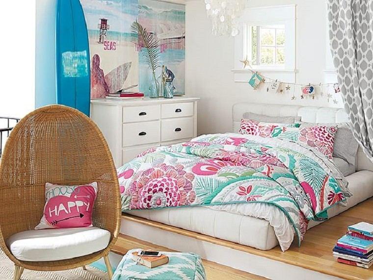 Dormitorios Juveniles 100 Ideas Para Tu Adolescente - Como-decorar-un-cuarto-juvenil-femenino