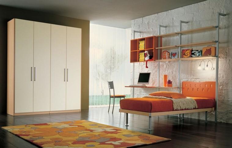 dormitorios juveniles amplio alfombra motivos florales ideas