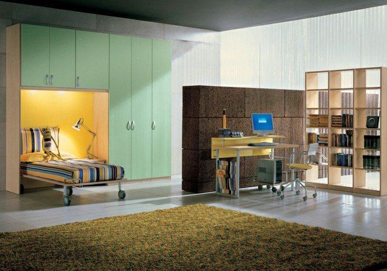 dormitorios adolescentes amplio armario grande colores ideas