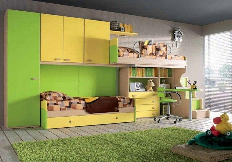 dormitorios juveniles dos camas empotradas armarios ideas