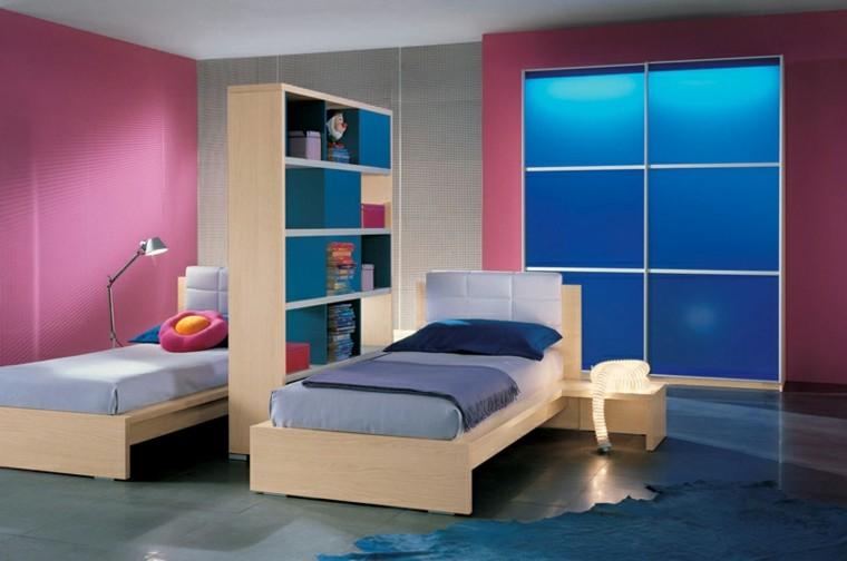Dormitorios juveniles 100 ideas para tu adolescente - Dormitorios juveniles de dos camas separadas ...