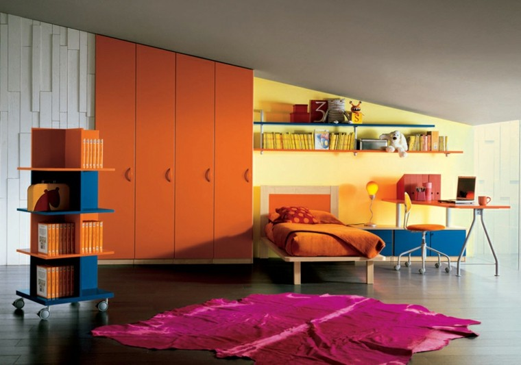 dormitorios juveniles naranja suelo madera alfombra purpura ideas with alfombras juveniles dormitorio
